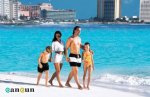 Walking in a Cancun Beach