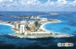Aerial view of Punta Cancun