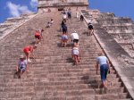 Climbing the Chichen Itza Pyramid